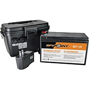 SPYPOINT 12 VOLT BATTERY, CHARGER & HOUSING KIT