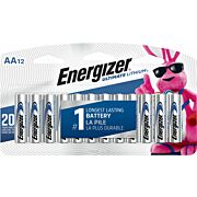 ENERGIZER ULTIMATE LITHIUM BATTERIES AA 12-PACK