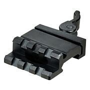 UTG ANGLE MOUNT QD 3 SLOT SINGLE RAIL PICATINNY MOUNT