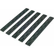 "BCM RAIL PANEL KIT M-LOK 5.5"" BLACK 5 PACK"