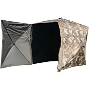 "MUDDY GROUND BLIND THE GARAGE 64.5""W X 88""L X 67""T CAMO"