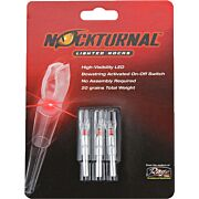 NOCKTURNAL LIGHTED NOCK G-SERIES RED 3/PACK