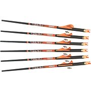 "RAVIN XBOW ARROW CARBON W/2"" OFFSET VANES 400GR .003"" 6PK"