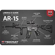"TEKMAT ARMORERS BENCH MAT 11""X17"" AR-15 LIBERAL'S GUIDE"