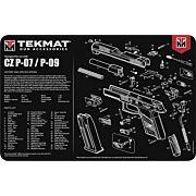 "TEKMAT ARMORERS BENCH MAT 11""x17"" CZ P-07/09 PISTOL"