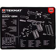 """TEKMAT ARMORERS BENCH MAT ULTRA 15""""X20"""" GLOCK GEN 4 BLK"""