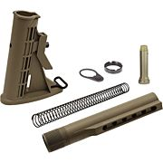 UTG STOCK ASSEMBLY AR-15 FDE 6 POSITION MIL-SPEC