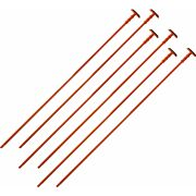 GSS ORANGE RIFLE RODS .22 CALIBER 6-PACK