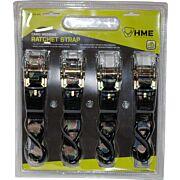 """HME RATCHET STRAP 1""""X8' CAMO STRAP 4PK"""