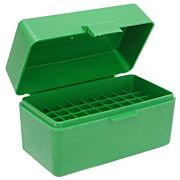 MTM AMMO BOX SMALL RIFLE 50-ROUNDS FLIP TOP STYLE GREEN