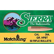 SIERRA BULLETS .22 CAL .224 53GR HP MATCH 100CT