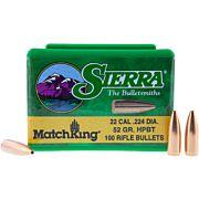 SIERRA BULLETS .22 CAL .224 52GR HPBT MATCH 100CT