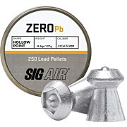 SIG PELLETS .22 ZERO 16.6GR HP TIP LEAD ALLOY 250 CT.