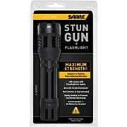SABRE STUN GUN FLASHLIGHT W/HOLSTER 1.820uC BLACK