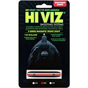 "HIVIZ SHOTGUN FRONT SIGHT MAGNETIC RIB .218-.328"" RED"