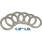 "YHM BARREL SHIM SET 1/2"" I.D. SET OF 6"