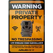 "MUDDY LIVE WIRELESS VIDEO SURVEILLANCE SIGN 8""X12"" 1EA"