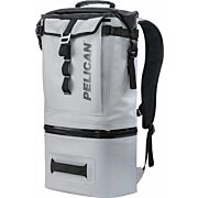 PELICAN SOFT COOLER BACKPACK COMPRESSION MOLDED GREY