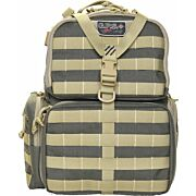 GPS TACTICAL RANGE BACKPACK W/WAIST STRAP RIFLE GRN/KHAKI