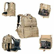 GPS TACTICAL RANGE BACKPACK W/WAIST STRAP TAN NYLON