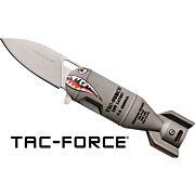 "MC TAC-FORCE 2.25"" DROP POINT FOLDER GREY SHARK BOMB/SS"
