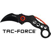 "MC TAC-FORCE 2.5"" HAWKBILL BLADE FOLDER BLACK/RED"