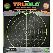 "TRUGLO TRU-SEE REACTIVE TARGET 100 YARD 12""X12"" 12-PACK"