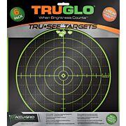 "TRUGLO TRU-SEE REACTIVE TARGET 100 YARD 12""X12"" 6-PACK"