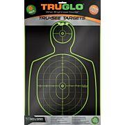 "TRUGLO TRU-SEE REACTIVE TARGET HANDGUNNER 12"" X 18"" 6-PACK"