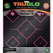 TRUGLO TRU-SEE REACTIVE TARGET 5 DAIMOND 6-PACK PINK