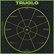 "TRUGLO TRU-SEE REACTIVE TARGET HANDGUN DIAGNOSTIC 12""X12"" 6PK"