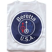 BERETTA T-SHIRT USA LOGO LARGE WHITE