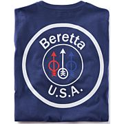 BERETTA T-SHIRT USA LOGO LARGE NAVY BLUE