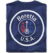 BERETTA T-SHIRT USA LOGO 2X-LARGE NAVY BLUE