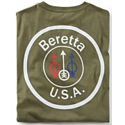 BERETTA T-SHIRT USA LOGO LARGE OD GREEN