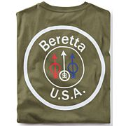 BERETTA T-SHIRT USA LOGO MEDIUM OD GREEN
