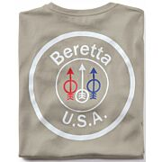 BERETTA T-SHIRT USA LOGO LARGE DOVE GREY