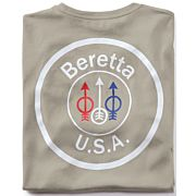 BERETTA T-SHIRT USA LOGO X-LARGE DOVE GREY