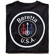 BERETTA T-SHIRT USA LOGO MEDIUM BLACK