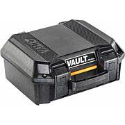 PELICAN VAULT SMALL PISTOL CASE W/ FOAM BLACK
