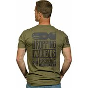 NINE LINE APPAREL WARHEADS ON FORHEADS MEN'S T-SHIRT GRN 2XL