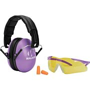 WALKERS MUFF SHOOTING PASSIVE YOUTH GLASSES/PLUGS 27dB PURP