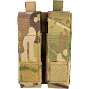 GREY GHOST DOUBLE PISTOL MAGNA MAG POUCH LAMINATE MULTICAM
