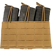 GREY GHOST TRIPLE MAG PANEL 5.56 MAG POUCH LAMINATE COYOTE