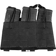 GREY GHOST TRIPLE MAG PANEL 5.56 MAG POUCH LAMINATE BLACK