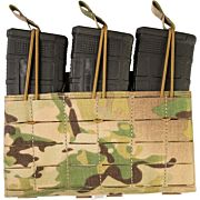 GREY GHOST TRIPLE MAG PANEL 5.56 MAG POUCH LAM MULTICAM