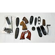 USED LOT OF MISC GRIPS AND BUTTPLATES FOR GUNSMITHS