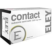 ELEY AMMO CONTACT SUBSONIC .22LR 42GR. ROUND NOSE 50-PACK