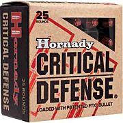 HORNADY AMMO CRITICAL DEFENSE .38 SPECIAL+P 110GR. FTX 25-PK