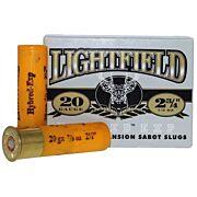 "LIGHTFIELD SLUGS 20GA 2.75"" 7/8 OZ SABOT 5-PACK"
